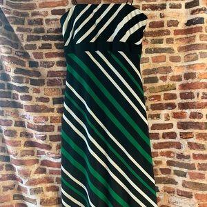 Strapless bra support cache dress stripes